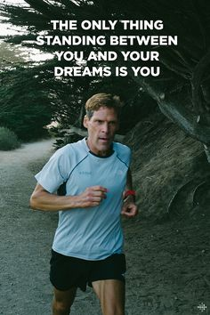"""""""The only thing standing between you and your dreams is you."""" A little motivation from Fitbit Ambassador Dean Karnazes."""