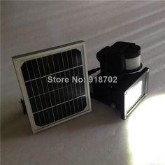 Sustentabilidade Energética Solar Termosolar e Eólica : Holofote 10W com sensor de presença Sistema Fotovo...
