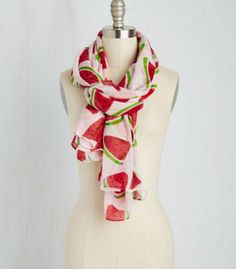 This fabulous scarf that adds a bold statement to literally any outfit: | 18 Watermelon Products You Never Knew You Needed Until Today