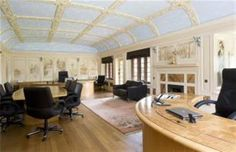 Modern feel: Herbert Louis Wade JP built the sq ft property that is now Honiley Hall. in 1913 - some wonderful touches, including this amazing ergonomic desk. Inglenook Fireplace, Exposed Beams, Country Estate, Detached House, Townhouse, Property For Sale, Cottage, Mansions, Building
