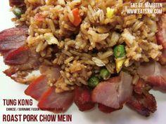 Roast Pork Chow Mein - Tung Kong Roast Pork Chow Mein, Pork Roast, Chow Chow, Fried Rice, Fries, Eat, Ethnic Recipes, Food, Roast Leg Of Pork
