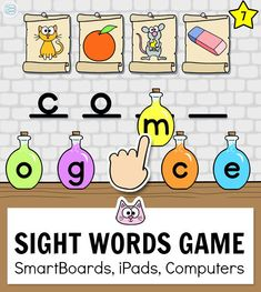 Practice sight words with this engaging word building game. This fun game for kids works with any device including iPads, computers, SmartBoards, interactive whiteboards and Chromebooks in the classroom. An engaging addition to your kindergarten classroom Word Work Games, Sight Word Games, Online Games For Kids, Fun Games For Kids, Kindergarten Games, Classroom Activities, Sight Words, Educational Websites For Kids, Phonics Games