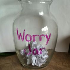 Worry Jar to ease anxiety for kids and parents too #calm