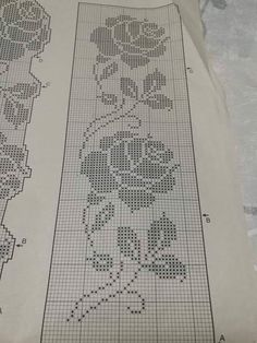 Romantic white filet crochet table doily or runner, rustic or cottage chic style, afternoontea wedding decor, garden tea party Crochet Skirt Pattern, Crochet Bedspread, Crochet Lace Edging, Crochet Curtains, Crochet Borders, Cross Stitch Borders, Afghan Crochet Patterns, Thread Crochet, Cute Crochet