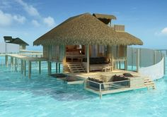 The Maldives offers this for accomodation!