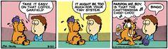 Garfield Quotes, Garfield Comics, Chattanooga Choo Choo, Jim Davis, Monster Energy, First Tattoo, Comic Strips, Childhood, Comic Books