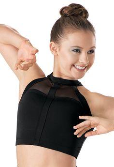 Mesh Inset Cropped Bra Top | Balera™
