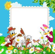 Transparent Kids PNG Frame with Ducks