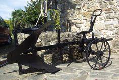 El rincón de un aprendiz: Restauración de un antiguo arado de hierro Outdoor Furniture, Outdoor Decor, Metal Working, Park, Home Decor, Tractor, Bricolage, Garden, Furniture Restoration