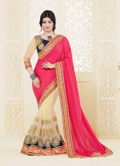 Surpassing Net Embroidered Work Designer Saree