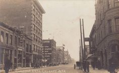 Calgary Wholesale District early - On the left of the postcard you'll find Calgary Dining Parlors, and on the right, Empire Theatre Avenue South West) with the Alexander Corner in the foreground right. Calgary, Trail, Empire, Street View, Scene, Canada, City, Postcards, Theatre