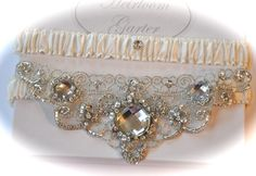 Wedding Garter Set Ivory Garter Set with by GartersByGarterLady