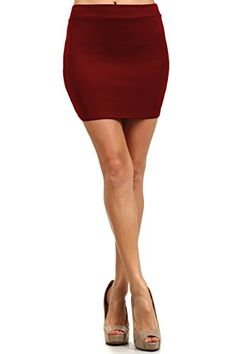 eb21bff1c Women's Fitted Solid Mini Skirt with Stretch: Small- Waist: Length: Medium-  Waist: Length: Large- Waist: Length: