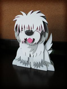 Custom Pet/Animal Portrait Layered Paper by PaperChopShop on Etsy, $85.00