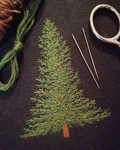 "4,210 Likes, 49 Comments - Professional Embroiderer (@delphil__) on Instagram: ""Un petit patch sapin à venir 🌲 . . . . . #sapin #fir #foret #forest #greenlife #simple #nature…"""
