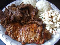 Local Mix Plate lunch (teriyaki beef & chicken, two scoops of white rice with macaroni salad)