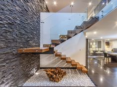 Modern Staircase Design Ideas - Search images of modern stairs and find design as well as format ideas to inspire your own modern staircase remodel, consisting of special railings and storage space . Home Stairs Design, Railing Design, Interior Stairs, House Staircase, Staircase Remodel, Small Space Interior Design, Home Interior Design, Cabin Design, House Design