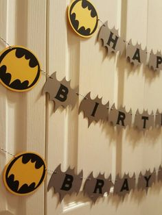 Batman birthday - batman banner - batman custom - batman party - batman decorations - batman garland - batman baby shower - batman favors