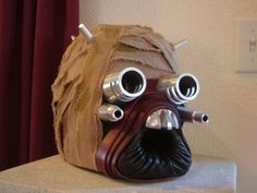Star Wars Tuscan Raider Halloween costume mask tutorial.