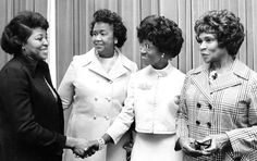 Betty Shabazz, Dorothy I. Height, Shirley Chisholm, and Marian Anderson, April 21, 1975