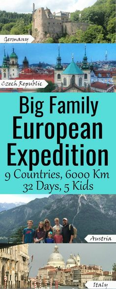Planning a Big Family European Expedition - Road Trip and Cruise - SixSuitcaseTravel