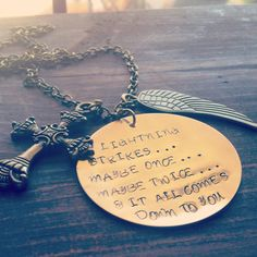 Hand Stamped Brass Necklace with Fleetwood Mac Stevie Nicks Quote on Etsy, $25.00 #stevienicks #fleetwoodmac