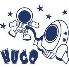 Astronauta. #Vinilo decorativo #infantil personalizado con nombre