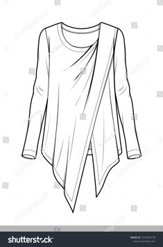 Find Woven Top Fashion Flat Technical Drawing stock images in HD and millions of other royalty-free stock photos, illustrations and vectors in the Shutterstock collection. Fashion Design Sketchbook, Fashion Illustration Sketches, Fashion Design Drawings, Fashion Sketches, Drawing Fashion, Arte Fashion, Flat Sketches, Clothing Sketches, Dress Drawing