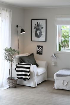 Just add a little book shelf :) Reading space. Love the place for your coffee #interiordesign #whitedecor #furniture