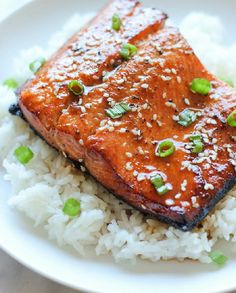Gluten Free and Low FODMAP Recipe - Glazed sesame salmon