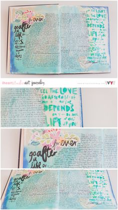 Wilna Furstenberg's Art Journaling 7// Daily Devotion