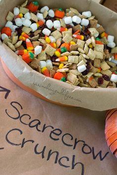 Making it Milk-free: Scarecrow Crunch Trail Mix {Dairy, Gluten & Nut Free} Fall Snacks, Fall Treats, Holiday Treats, Kid Snacks, Class Snacks, Healthy Snacks, Trail Mix Recipes, Fall Recipes, Holiday Recipes