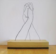 Gavin Worth's wire sculptures