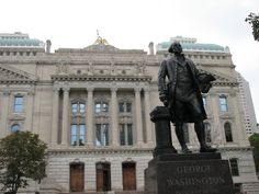 WASHINGTON, George statue at the Indiana Statehouse in Indianapolis, Indiana by Donald DeLue