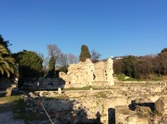 Great roman ruins in Nice, France