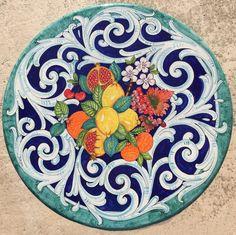 Tavoli Da Giardino In Ceramica Di Vietri.16 Fantastiche Immagini Su Ceramiche Di Vietri Tavoli In Pietra