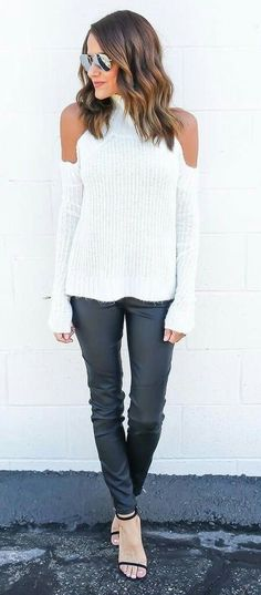 Love the cold shoulder sweater