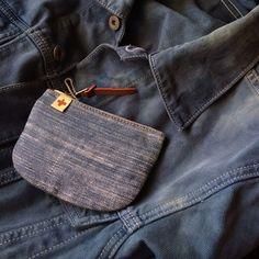 nobooboo:  visvim - CANVAS WALLET SLUB UNIQLO - Denim Jacket (indigo dye) (my wardrobe)