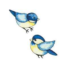 Wrights Iron On Appliques 2/Pkg Blue Birds from @fabricdotcom  Use Simplicity Appliques to add whimsy and charm to apparel, accessories, and other craft and home décor projects. Appliqués can be stitched or ironed on. Package includes 2 appliques. Appliques measure 1.75 inches tall.