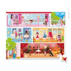Dance Academy 100 pc Ballet School Puzzle in a Gift Box - Educational Toys Planet 100 Piece Puzzles, Jigsaw Puzzles, Round Gift Boxes, Ballet Shows, Making Wooden Toys, Traditional Toys, Physical Development, Dance Academy, Papers Co