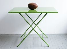 Powder-Coated Steel Folding Table — Dining Tables -- Better Living Through Design