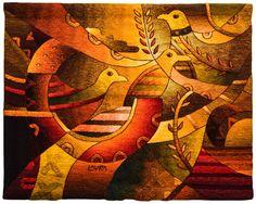 Handwoven Peruvian Tapestry Birds & Sun by MuseoMaximoLauraPeru Weaving Art, Hand Weaving, Tapestry Loom, Contemporary Tapestries, Cubism Art, Tapestry Design, Historical Art, Bird Art, Mosaics