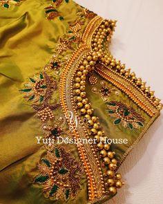 Sleeve design by YUTI! For Price and Other details reach us at 044-42179088 or Whatsapp: 7010905260 Address: 21, Valmiki street, Thiruvanmyur. #greenblouse #greenandgold #kanchivaramsilk #silksaree #silkanarkali #kanchipuramsilk #floorlengthanarkali# #chennaidesigner #embroidery #chennaifashion #handembroidery #zardosiwork #sleeveembroidery #beadwork #chennaifashionhouse #yutiforbrides #YUTIDesignerHouse #yuti #yutiforbridesmaids #dressbyyuti #anarkalibuyuti #anarkali #violetanarkali #anark