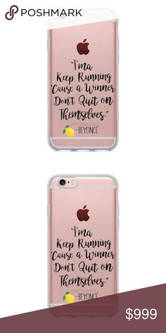 Beyoncé IPhone 6/6s- 7 Motivational Beyoncé IPhone Case! Available in 6/6s and 7. Never give up on yourself! That's how winners win! I love women empowering women! Accessories Phone Cases