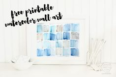 Add a touch of color to any room, any style, with this free printable watercolor art. Can be printed on a large scale for high-impact wall decor, too. Watercolor Art Diy, Watercolor Walls, Watercolors, Free Printable Art, Free Printables, Triptych Art, Diy Wall Decor For Bedroom, Ikea, Empty Wall Spaces