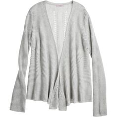 44b1b1a9dd8 CALYPSO St. Barth Riovana Ribbed Cashmere Cardigan (275 CAD) ❤ liked on  Polyvore featuring tops