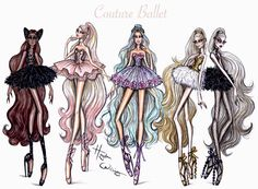Hayden Williams Fashion Illustrations: 'Couture Ballet' collection by Hayden Williams