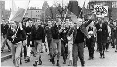 "antifascistaction: """"No to Nazis"": skinheads take part in an anti-National Front protest in West Bromwich, 28th April 1979. Picture by Virginia..."
