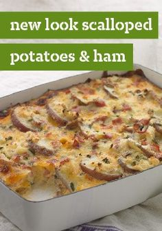 New-Look Scalloped Potatoes and Ham – This classic comfort dish got a smart makeover, but the taste has stayed firmly in the delicious past. Our foolproof technique ensures less prep time and a creamy result.