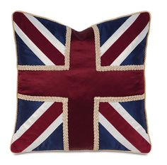 Union Jack Navy Pillow